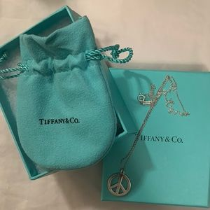 Tiffany & Co. Sterling Silver Peace Sign Pendant